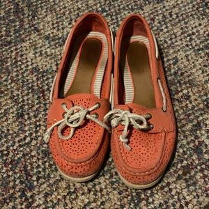 Sperry Audrey Perfed Womens Leather Boat Shoes